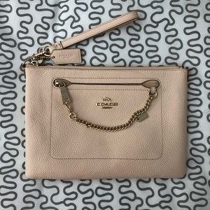 Coach Clutch with Wristlet - Blush